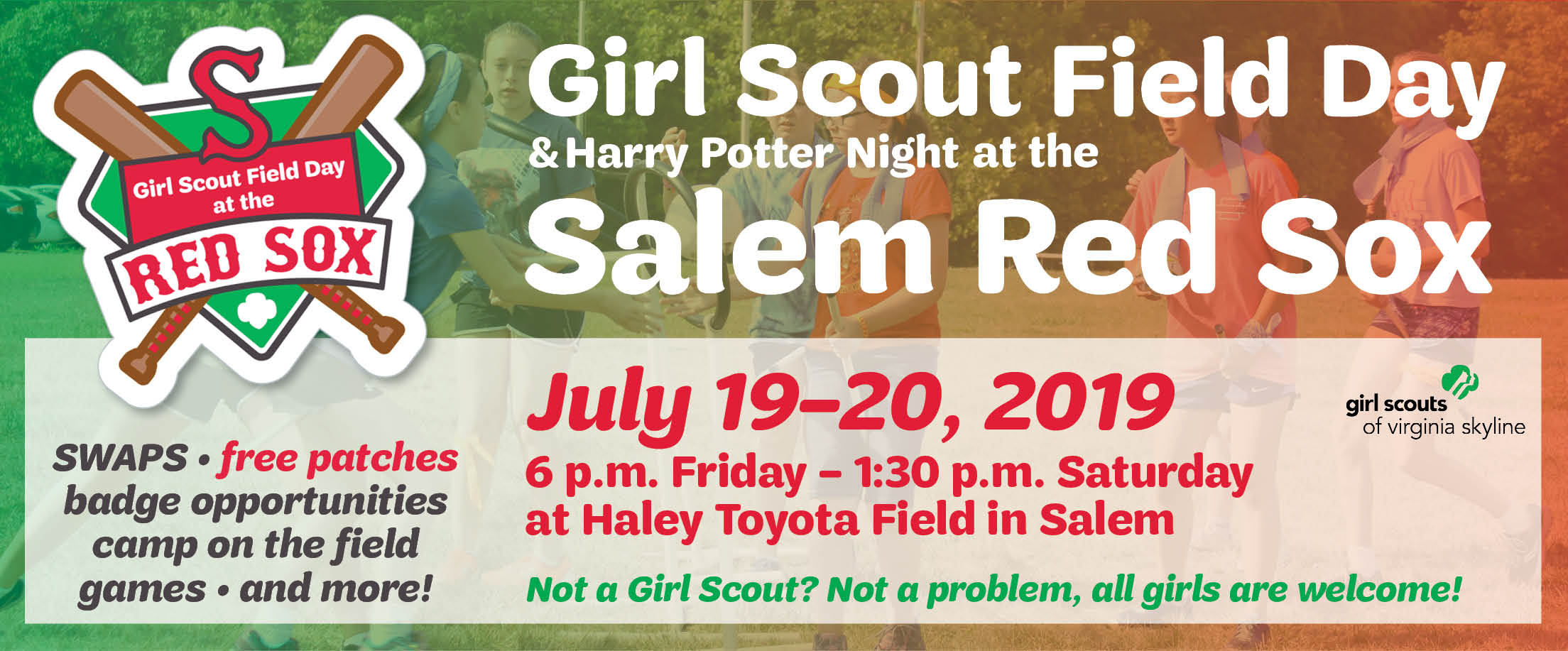 Girl Scout Field Day At The Salem Red Sox