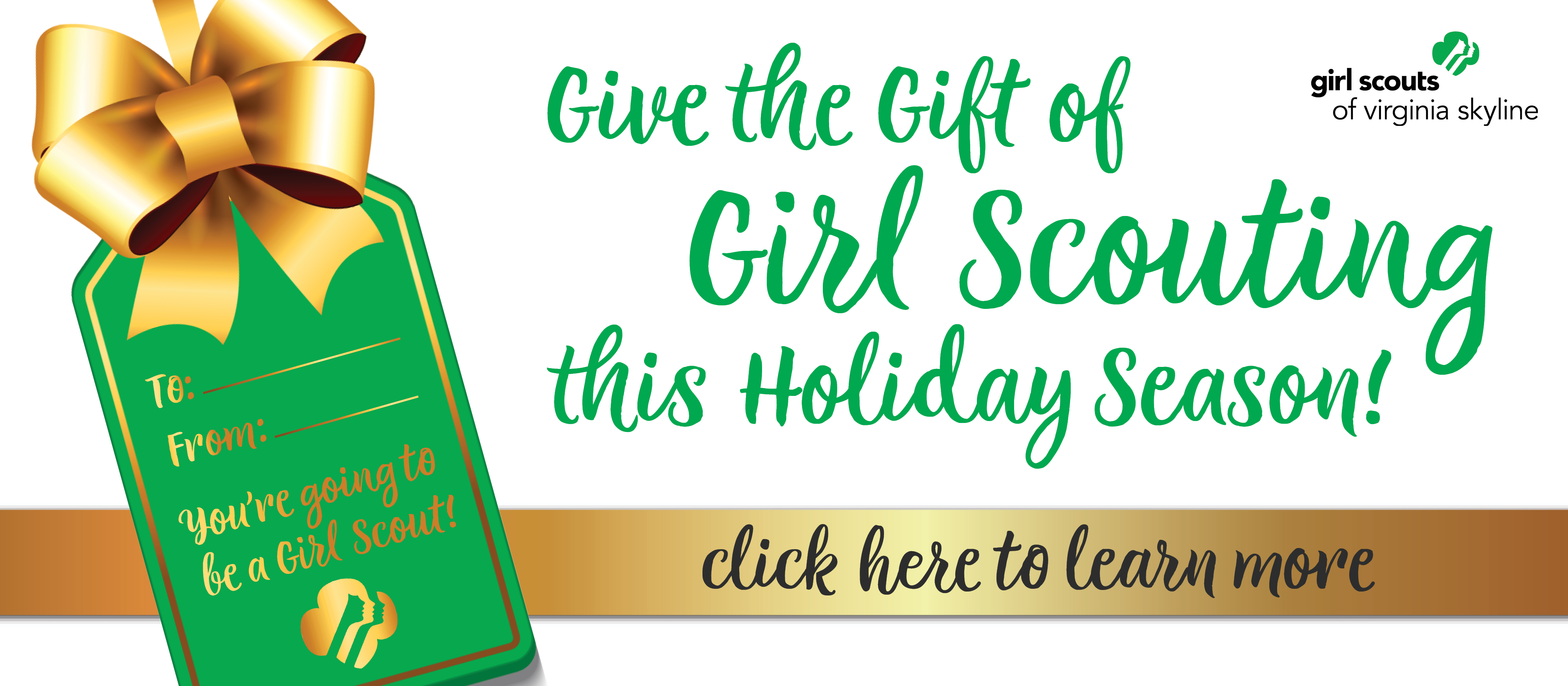 Gift the Gift of Girl Scouting this holiday season!