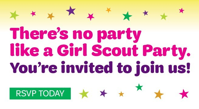 You're Invited to a Girl Scout Party