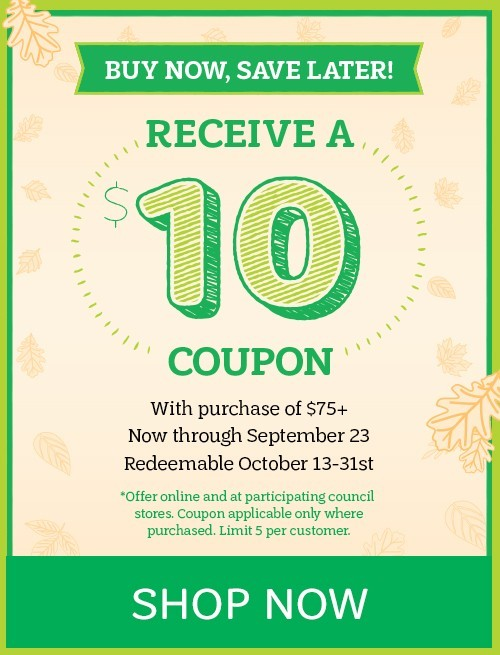 Buy Now, Save Later: Receive a $10 Coupon with Purchase of $75